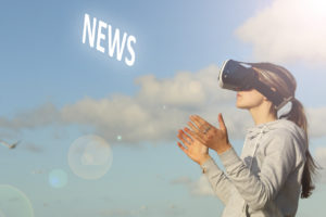 Girl With VR Showing News