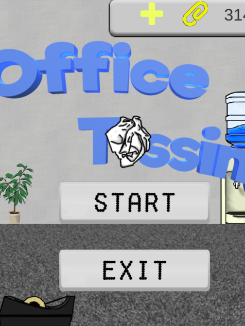 Office Tossing Main Menu