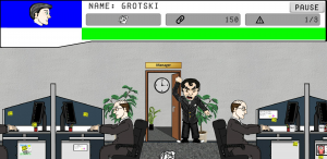 Office Tossing Angry Boss