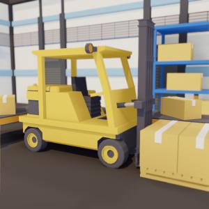 Forklift render Belt It Out
